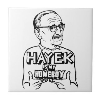 Hayek Is My Homeboy Small Square Tile