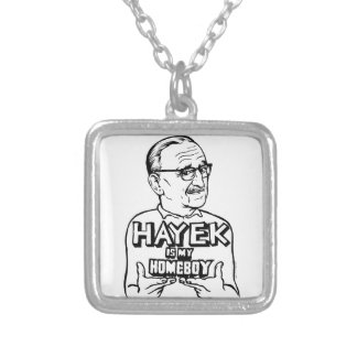 Hayek Is My Homeboy Square Pendant Necklace