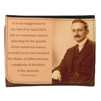 Hayek on Central Planning Leather Trifold Wallets