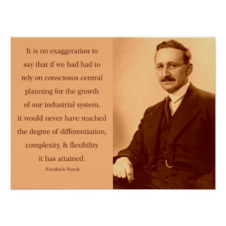 Hayek on Central Planning Poster