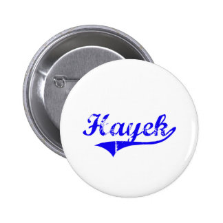 Hayek Surname Classic Style Button