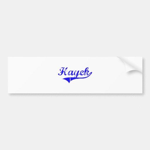Hayek Surname Classic Style Car Bumper Sticker