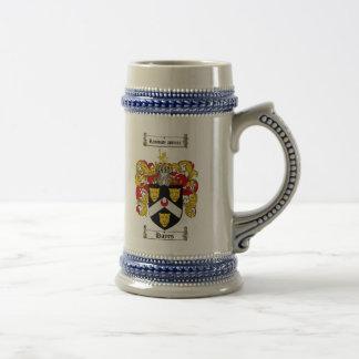 Hayes Coat of Arms Stein / Hayes Crest Stein Coffee Mug