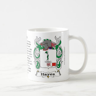 Hayes Family Coat of Arms Mug