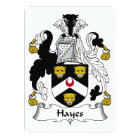 Hayes Family Crest Card