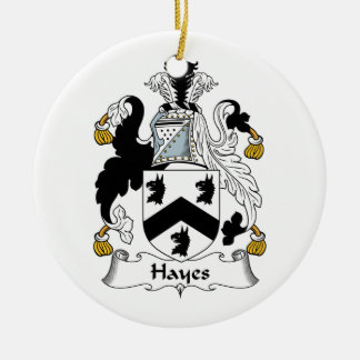 Hayes Family Crest Christmas Tree Ornaments