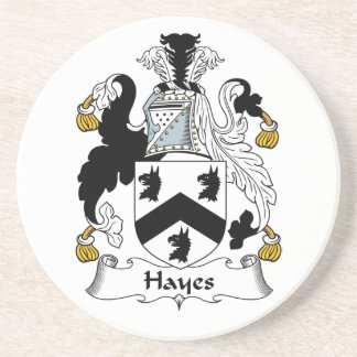 Hayes Family Crest Drink Coaster