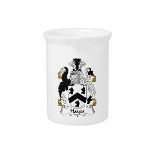 Hayes Family Crest Drink Pitchers