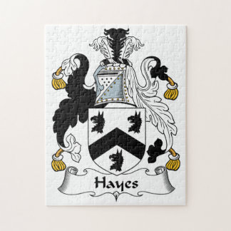 Hayes Family Crest Jigsaw Puzzles