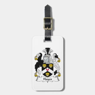 Hayes Family Crest Luggage Tag