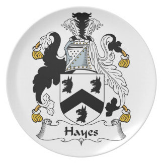 Hayes Family Crest Party Plates