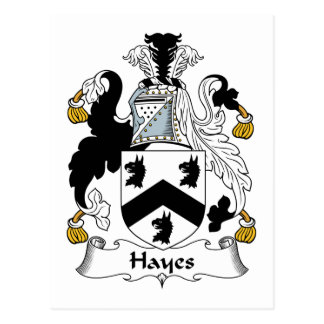 Hayes Family Crest Post Card