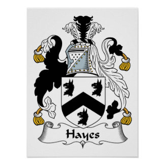 Hayes Family Crest Poster