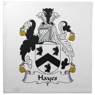 Hayes Family Crest Printed Napkins