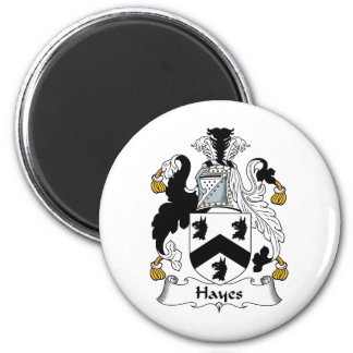 Hayes Family Crest Refrigerator Magnet