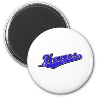 Hayes in Blue 2 Inch Round Magnet
