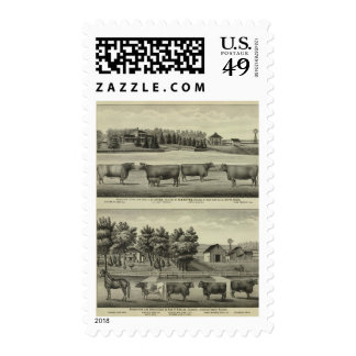 Hayes, Olathe, and Ellis Residence and Farm Stamps
