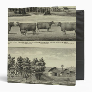 """Hayes, Olathe, y residencia y granja de Ellis Carpeta 1 1/2"""""""