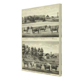 Hayes, Olathe, y residencia y granja de Ellis Impresión En Lona Estirada