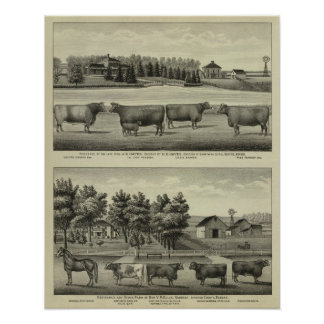 Hayes, Olathe, y residencia y granja de Ellis Póster