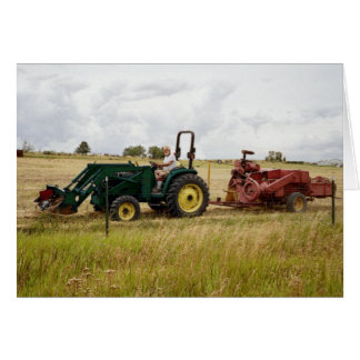 Haying in Golden Ranch Fields Card
