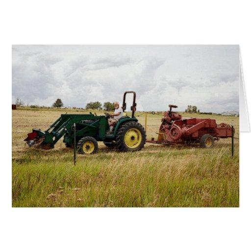 Haying in Golden Ranch Fields Card