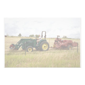 Haying in Golden Ranch Fields Stationery Paper