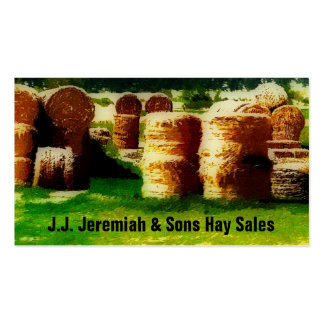 Haying Service or  Hay Sales Business Card