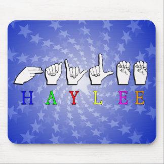 HAYLEE  FINGERSPELLED ASL SIGN NAME FEMALE MOUSE PAD