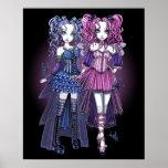 Haylee & Maegan Gothic Fairies Poster