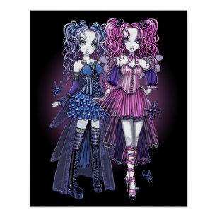 Haylee Maegan Gothic Fairies Poster