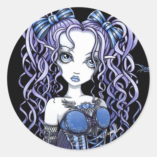 """""""Haylee"""" Purple Butterfly Fairy Art Stickers"""