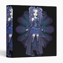 purple, butterfly, heart, tattoo, gothic, cute, blue, pigtails, fairy, faerie, faery, fae, fairies, ruffles, bows, corset, myka, jelina, art, fantasy, butterflies and moths, Binder with custom graphic design