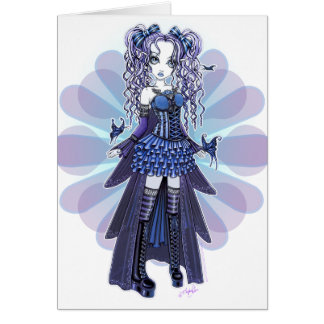 """Haylee"" Purple Tattoo Butterfly Fairy Art Card"