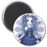 """Haylee"" Purple Tattoo Butterfly Fairy Art Magnet"