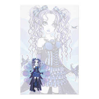 """Haylee"" Purple Tattoo Butterfly Fairy Stationery"