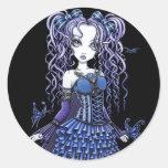 """Haylee"" Purple Tattoo Butterfly Fairy Stickers"
