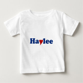 Haylee with Heart Shirt
