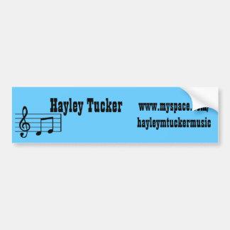 hayleymtuckermusic bumper sticker car bumper sticker