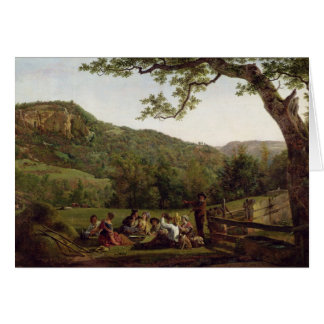 Haymakers Picnicking in a Field Card