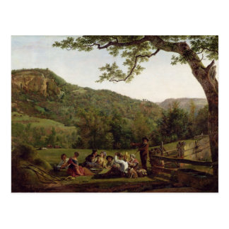 Haymakers Picnicking in a Field Postcard