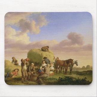 Haymakers que descansan en un campo mouse pad