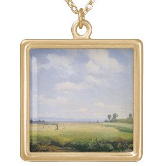 Haymaking, 1838 (aceite en lona) colgante cuadrado