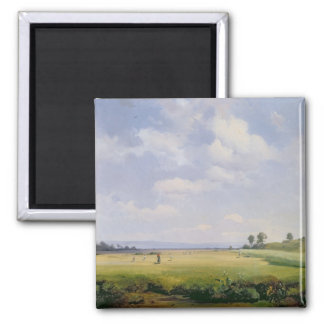 Haymaking, 1838 (oil on canvas) 2 inch square magnet