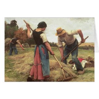 Haymaking, 1880 card