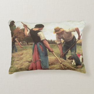 Haymaking, 1880 decorative pillow