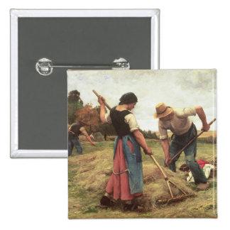 Haymaking, 1880 pin cuadrado