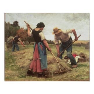 Haymaking, 1880 póster