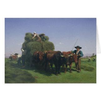 Haymaking, Auvergne Card