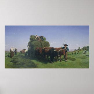 Haymaking, Auvergne Poster
